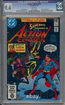 Action Comics #521 Key 1ère Apparition Vixen (1981) DC Comics Superman Cgc 9.4