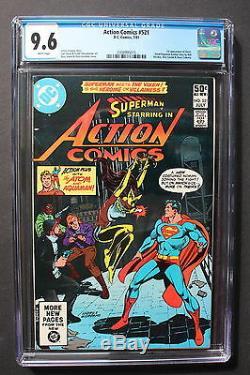 Action Comics # 521 Première Vixen Tv Flèche Noire Jla Suicide Squad 1981 Cgc Nm + 9,6