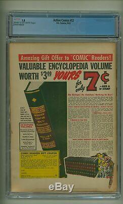 Action Comics # 52 Cgc 1.0 Seconde Guerre Mondiale Guerre Bond Cover