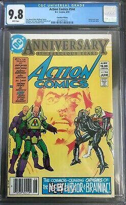 Action Comics # 544 Cgc 9.8 1er Lex Luthor Armure De Combat Et Nouvelle Brainiac