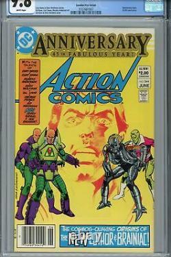 Action Comics #544 Cgc 9.8 Variante Des Prix Canadiens