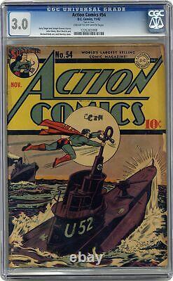 Action Comics #54 Cgc 03.0 1942 1226365008