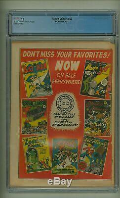 Action Comics # 55 Cgc 1.0 Guerre Mondiale Couverture