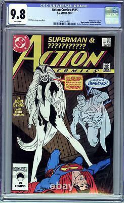 Action Comics # 595 (1987 DC Comics) Cgc 9,8 Nm / M 1er Argent Banshee