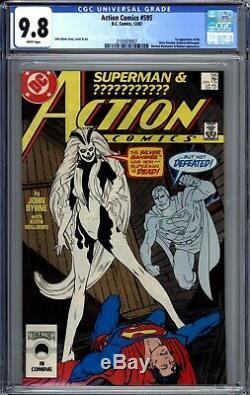 Action Comics # 595 Cgc 9.8 Pages Blanches 1er Argent Banshee John Byrne