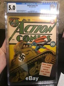Action Comics # 59 1ère Apparition De Susie Tompkins Cgc 5.0 Rare Unpressed
