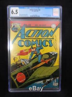 Action Comics # 63 Cgc 6.5 Hitler Et Apparence Factice Classique War Couverture