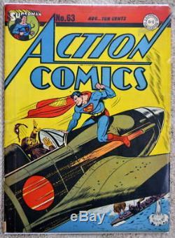 Action Comics # 63 Couverture De La Guerre Japonaise De Superman 1943 Cgc 4.5