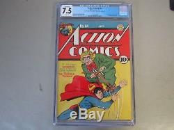 Action Comics # 64 Cgc 7.5 Comic Book 1943 1er App. Key Toyman