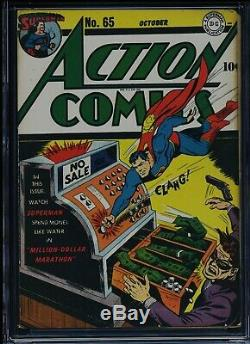 Action Comics # 65 Cgc-wp 7.0 Superman