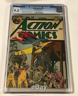 Action Comics # 67 Cgc 4.5