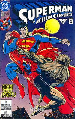 Action Comics # 683 Cgc 9.4 Première Doomsday Apparence Mort De Superman 1992