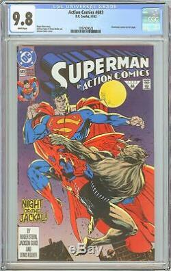 Action Comics # 683 Cgc 9.8 Pages Blanches (1992) 2097909023 Doomsday Cameo