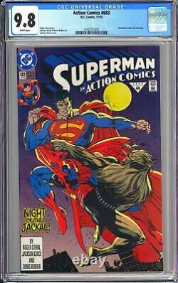 Action Comics #683 Cgc 9.8 Pages Blanches 1992 3742731010 Doomsday Cameo
