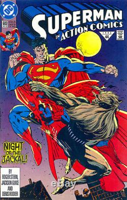 Action Comics # 683 Cgc 9.8 Première Apparition De Doomsday Death Of Superman 1992
