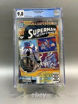 Action Comics #689 Cgc 9.8 1ère Application De Superman Black Suit Nouvellement Classé Hot