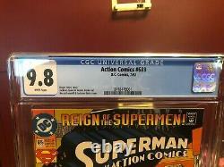 Action Comics # 689 Cgc 9,8 Nm 1er Costume Noir Superman Hbo Max Jl Snyder Cut
