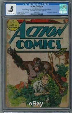 Action Comics # 6 Cgc. 5 (sb) 1ère Apparition De Jimmy Olsen