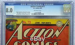 Action Comics # 73 Cgc 8.0 Superman 1944 Rare 3ème Plus Haut Grade