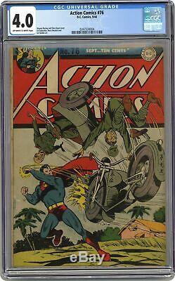 Action Comics # 76 Cgc 4.0 1944 0347334004
