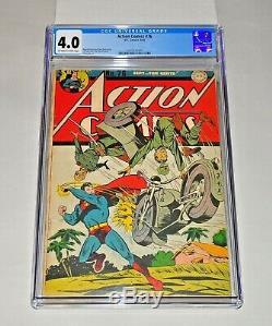 Action Comics 76 Cgc 4.0 Pages Blanc Cassé À Blanc Pages 1944 Couverture De Superman, Seconde Guerre Mondiale