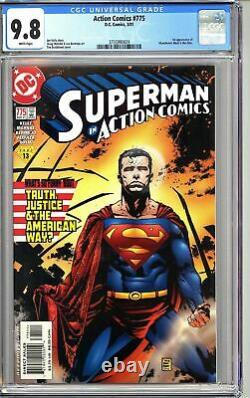 Action Comics #775 Cgc 9.8 Wp 2001 3755990024 1ère App. Manchester Black & Elite