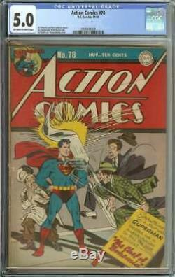 Action Comics # 78 Cgc 5,0 Pages Owithwh