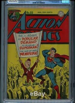 Action Comics # 80 (1945) 1st Mr. Mxyztplk Couverture Cgc 6.0 Golden Age Superman