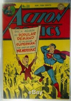 Action Comics # 80 Cgc F / Vf 7.0 (série DC 1938) Première Clé M. Mxyztplk Cover. Oww