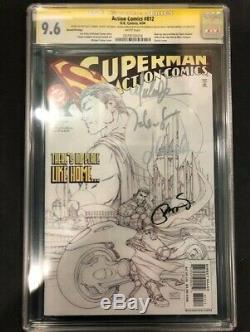 Action Comics # 812 2 Imprimer Sketch Cgc Ss 9.6 4x Signé Par Michael Turner