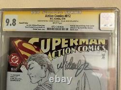 Action Comics 812 Cgc 9.8 Ss Signé Michael Turner Superman DC Sketch Variante