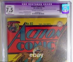 Action Comics # 82 Cgc 7.5 Superman 1945