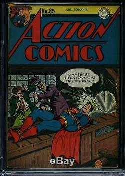 Action Comics # 85 Cgc 4.5 Cva Certifié Exceptionnelle