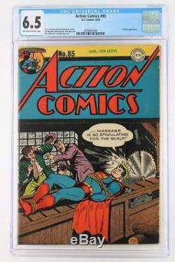 Action Comics # 85 Cgc 6.5 Fn + DC 1945 Superman Toyman App