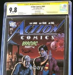 Action Comics # 869 (2008) Cgc 9.8 Ss Rappelé Beer Couverture Édition DC Comic