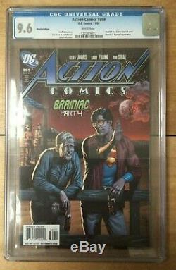 Action Comics # 869 A Rappelé La Variante De Bouteille De Bière Superman Cgc 9.6