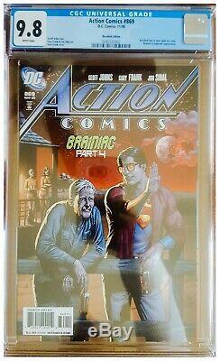 Action Comics # 869 Cgc 9.8 Rappelé Bouteille De Bière Variante Gary Frank Superman Wp