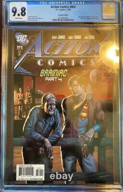 Action Comics # 869 Cgc Nm / M 9.8 Pages Blanches Rappelé Edition Bouteille De Bière
