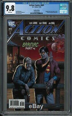 Action Comics # 869 Rappelé Bouteille Superman Bière Variant Cgc Comic Book