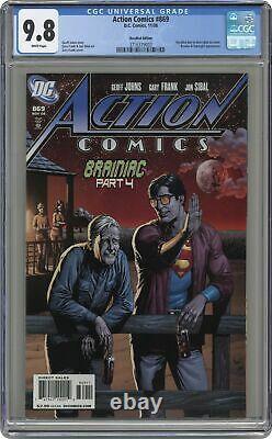 Action Comics #869b Rappelé Variante Bière Cgc 9.8 2008 3716379003