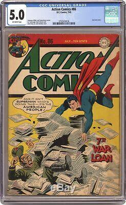 Action Comics # 86 Cgc 5.0 1945 3702634016