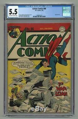 Action Comics # 86 Cgc 5.5 1945 1488661014