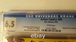 Action Comics # 88 Cgc 6.5 Pages Blanches 1945 Super Bright Colors