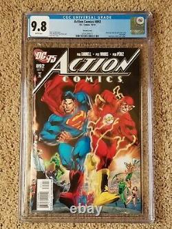 Action Comics 892 Cgc 9.8 125 75th Anniversary Reis Variante Superman 199 Swipe