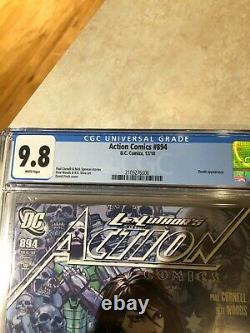 Action Comics #894 2010 Cgc 9.8 Graded Death Appearance David Finch Couverture