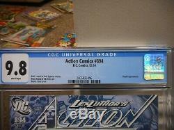 Action Comics 894 9.8 1ère Apparition Cgc De La Mort Dans Dcu Belle Couverture De Finch