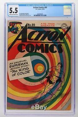 Action Comics # 89 DC 1945 Cgc 5.5 Superman