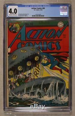 Action Comics # 90 Cgc 4.0 1945 1479118018