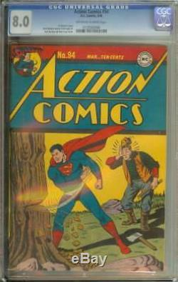Action Comics # 94 Cgc 8.0 Pages Owithwh