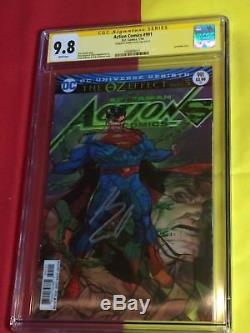 Action Comics # 991 Cgc 9.8 Signé Par Henry Cavill, Batman Superman Wonder Woman